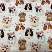 Dogs with bows bomullsjersey